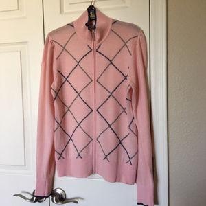Nike Women's Pink Argyle Golf Sweater